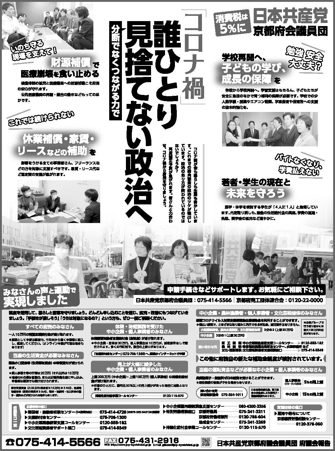 府議会議員団・議会報告新聞広告